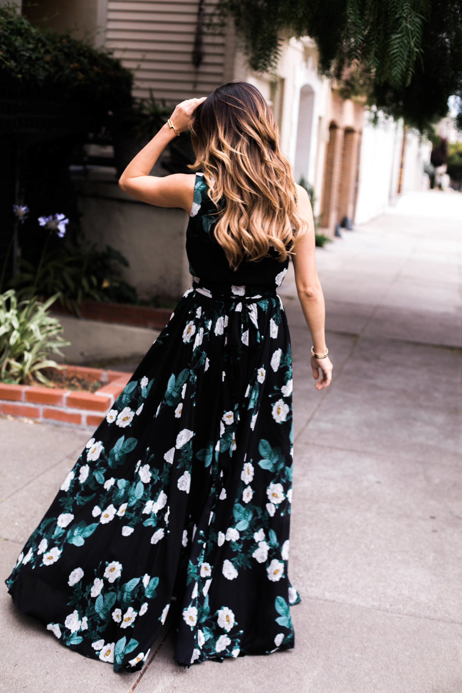 ariana lauren maxi floral dress